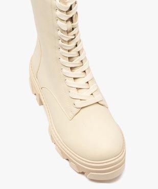 Boots femme unies à lacets semelle extra large et crantée vue5 - GEMO (CASUAL) - GEMO
