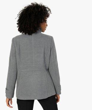 Manteau court femme avec double rangée de boutons vue3 - Nikesneakers(FEMME PAP) - Nikesneakers