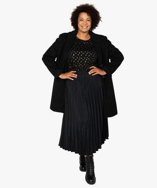 Tee-shirt femme à manches courtes à motifs vue5 - GEMO (G TAILLE) - GEMO