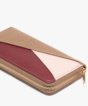 Portefeuille femme multicolore zippé vue2 - GEMO (ACCESS) - GEMO