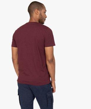 Tee-shirt homme à manches courtes et col V vue3 - GEMO C4G HOMME - GEMO