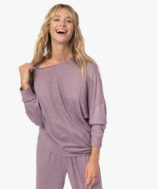 Haut de pyjama femme à manches chauve-souris vue1 - GEMO(HOMWR FEM) - GEMO