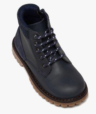 Boots garçon à semelle crantée et col rembourré en denim vue5 - GEMO (ENFANT) - GEMO