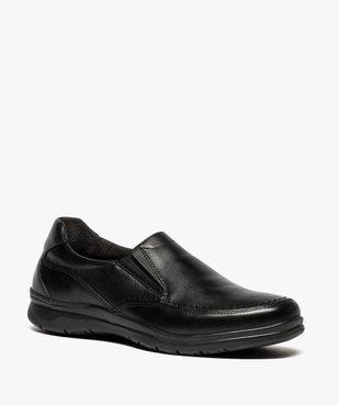 Mocassins homme confort unis à enfiler vue2 - ZEN AIR - Nikesneakers
