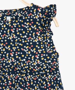 Robe bébé fille à motifs fleuris avec emmanchures à volants vue2 - GEMO(BEBE DEBT) - GEMO