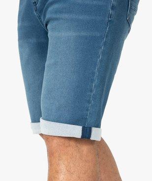 Bermuda homme en jean extensible vue6 - Nikesneakers (HOMME) - Nikesneakers