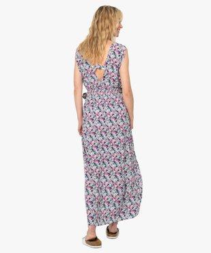 Robe de plage femme imprimée longue et échancrée  vue3 - GEMO (PLAGE) - GEMO