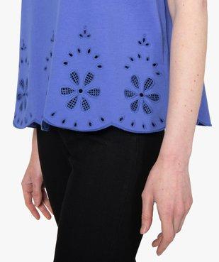 Tee-shirt femme à manches courtes avec bas brodé vue2 - Nikesneakers(FEMME PAP) - Nikesneakers