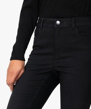 Jean femme skinny taille haute super stretch noir uni vue2 - GEMO(FEMME PAP) - GEMO