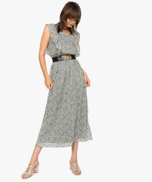Robe femme longue à motifs fleuris vue5 - GEMO(FEMME PAP) - GEMO