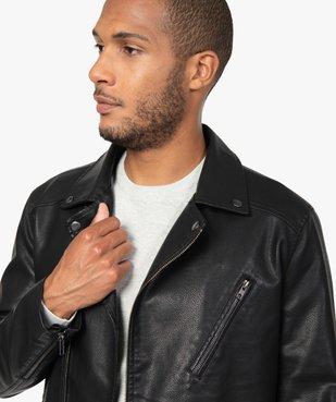 Blouson homme look motard imitation cuir vue3 - GEMO (HOMME) - GEMO