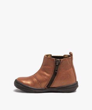 Boots bébé fille dessus cuir irisé façon Chelsea - Bopy vue3 - BOPY - GEMO