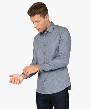 Chemise homme imprimée coupe slim vue1 - Nikesneakers (HOMME) - Nikesneakers