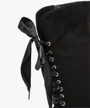 Bottes fille avec lacets rubans à l'arrière vue6 - GEMO (ENFANT) - GEMO