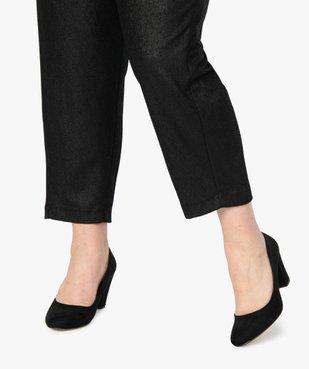 Pantalon femme irisé à taille élastiquée vue2 - GEMO (G TAILLE) - GEMO
