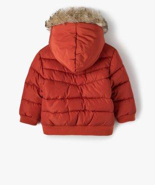 Blouson bébé garçon matelassé à capuche chaude vue4 - Nikesneakers(BEBE DEBT) - Nikesneakers