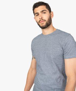 Tee-shirt homme à manches courtes et fines rayures vue5 - GEMO (HOMME) - GEMO