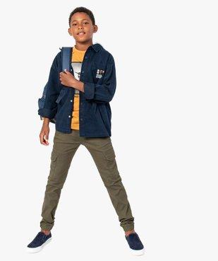 Chemise garçon effet 2 en 1 avec capuche vue5 - Nikesneakers (ENFANT) - Nikesneakers