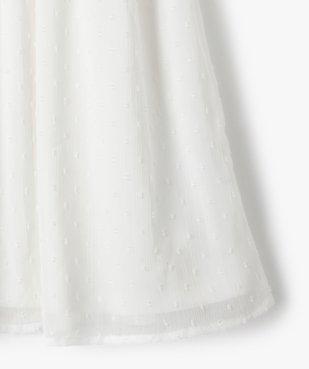 Robe fille courte à smocks et voile plumetis vue2 - GEMO (ENFANT) - GEMO