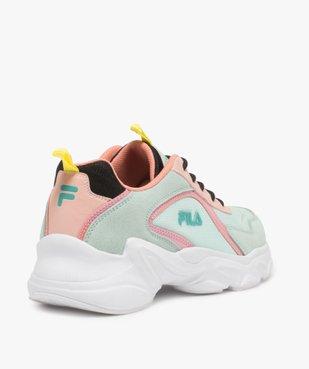 Baskets femme à semelle épaisse look dad shoes - FILA à reflets irisés vue4 - FILA - GEMO