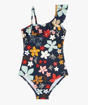 Maillot de bain fille une pièce asymétrique avec motifs fleuris vue1 - Nikesneakers (ENFANT) - Nikesneakers