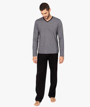 Pyjama homme bicolore à manches longues vue1 - GEMO(HOMWR HOM) - GEMO