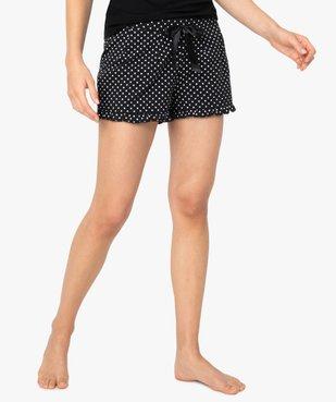 Short de pyjama femme imprimé à petits volants dans le bas vue1 - Nikesneakers(HOMWR FEM) - Nikesneakers