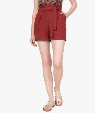 Short femme ample à ceinture vue1 - GEMO(FEMME PAP) - GEMO