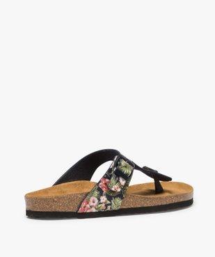 Sandales femme à entre-doigts imprimées de fleurs vue4 - GEMO (CASUAL) - GEMO