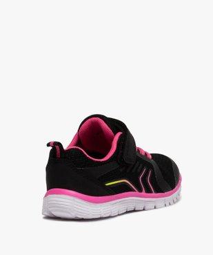 Baskets fille bicolores à lacets élastiques et scratch vue4 - Nikesneakers (ENFANT) - Nikesneakers