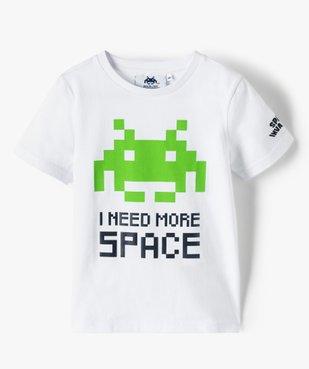 Tee-shirt garçon avec large motif – Space Invaders vue1 - GAME BOY - GEMO
