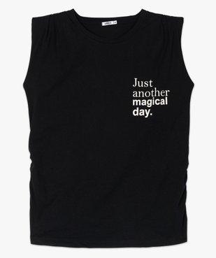 Tee-shirt de grossesse avec col rond et épaulettes vue4 - GEMO (MATER) - GEMO