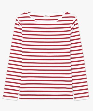 Tee-shirt femme rayé à manches longues vue4 - GEMO(FEMME PAP) - GEMO
