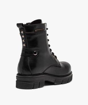 Boots femme unies à talon large et semelle crantée vue4 - Nikesneakers (CASUAL) - Nikesneakers