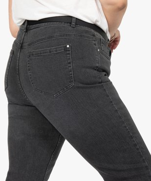 Jean femme straight stretch à taille réglable vue2 - GEMO (G TAILLE) - GEMO