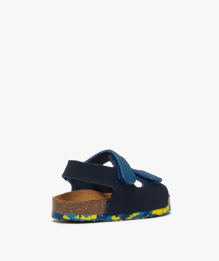 Sandales bébé garçon en cuir bicolore à scratch vue4 - GEMO(BEBE DEBT) - GEMO
