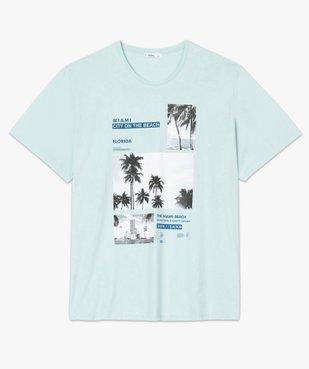 Tee-shirt homme avec motif palmiers à Miami vue4 - GEMO (G TAILLE) - GEMO