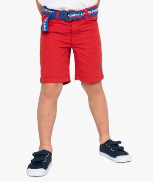 Bermuda garçon avec ceinture double boucle – Lulu Castagnette vue1 - LULUCASTAGNETTE - GEMO