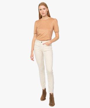 Pantalon femme coupe slim à rayures vue5 - GEMO(FEMME PAP) - GEMO