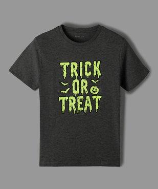 Tee-shirt garçon à manches courtes imprimé Halloween phosphorescent vue2 - Nikesneakers (ENFANT) - Nikesneakers