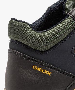Baskets garçon mid-cut à lacets et scratch - Geox vue6 - GEOX - GEMO