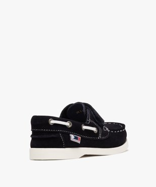 Chaussures bateau garçon dessus cuir à fermeture scratch Dessus cuir retourné uni vue4 - Nikesneakers (ENFANT) - Nikesneakers