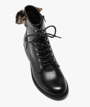 Boots femme à talon plat unis avec ruban fantaisie vue5 - GEMO (CASUAL) - GEMO