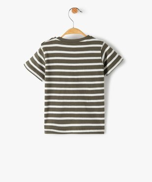 Tee-shirt bébé garçon à manches courtes avec motifs vue4 - GEMO C4G BEBE - GEMO
