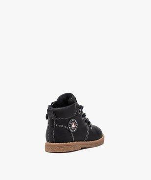 Boots bébé garçon à lacets et zip – LuluCastagnette vue4 - LULU CASTAGNETT - GEMO