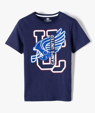 Tee-shirt garçon imprimé football américain - Camps vue1 - CAMPS UNITED - GEMO