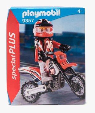 Jouet enfant pilote de motocross - Playmobil (5 pièces) vue1 - DIVERS LICENCE - GEMO