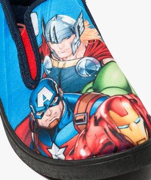 Chaussons garçon avec motifs sur le dessus - Avengers vue6 - AVENGERS - GEMO