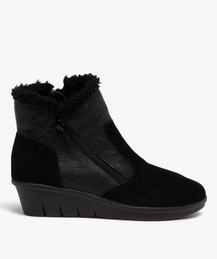 Boots femme confort unies à talon et doublure chaude vue1 - GEMO (CONFORT) - GEMO