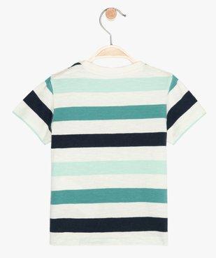 Tee-shirt bébé garçon à rayures et motif - Lulu Castagnette vue3 - LULUCASTAGNETTE - GEMO